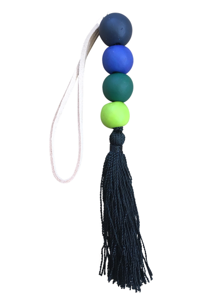 Beaded Tassel | Black & Green