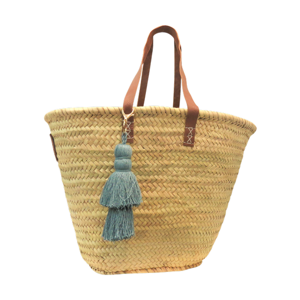 Tassel Basket - Grey