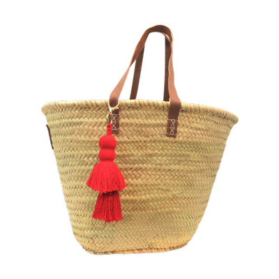 Tassel Basket - Red