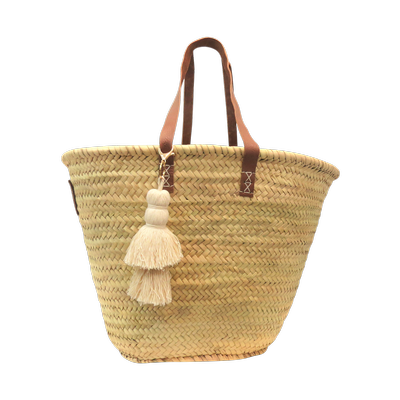 Tassel Basket - White