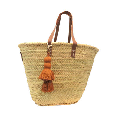Tassel Basket - Terracotta